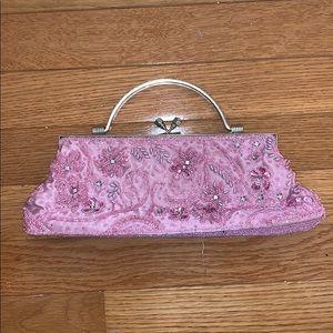 Pink Beaded Bag